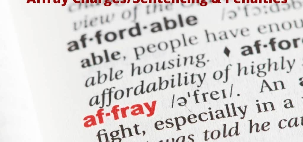 Affray Charges - Sentencing-Fines