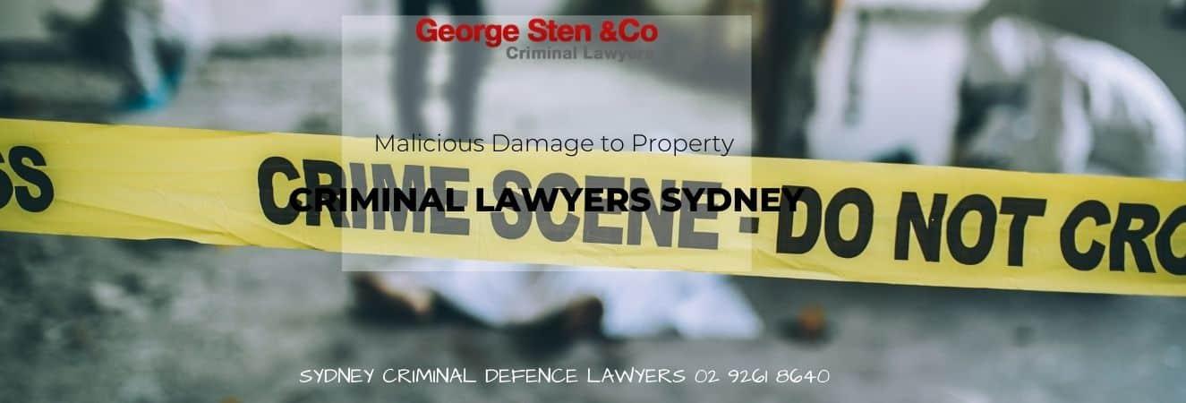 Malicious Damage of Property – Criminal Lawyers Sydney