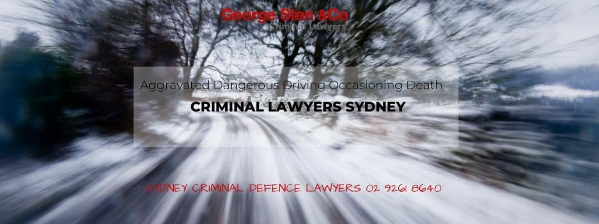 Aggravated Dangerous Driving Occasioning Death