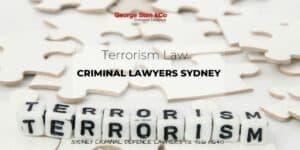 Terrorism Lawyers Sydney - Terrorism Law Australia - Criminal Lawyers Sydney George Sten and Co