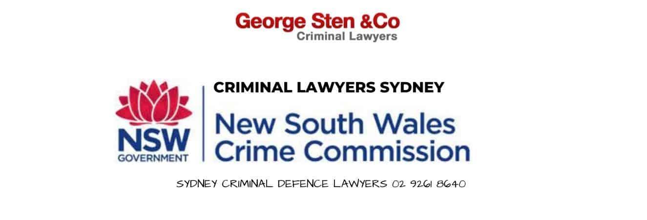 Crime Commission Lawyers Sydney