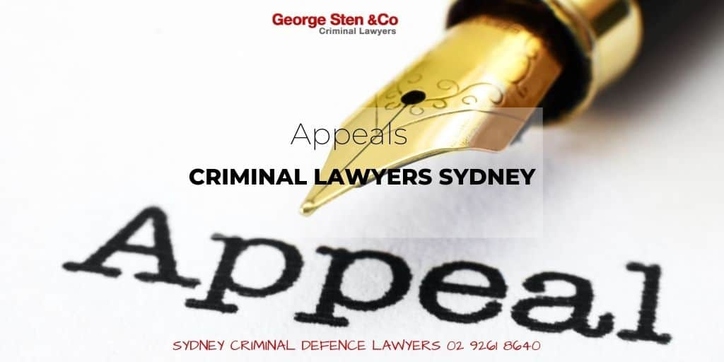 Appeals Lawyers Sydney - Criminal Appeals NSW - Criminal Lawyers George Sten and Co