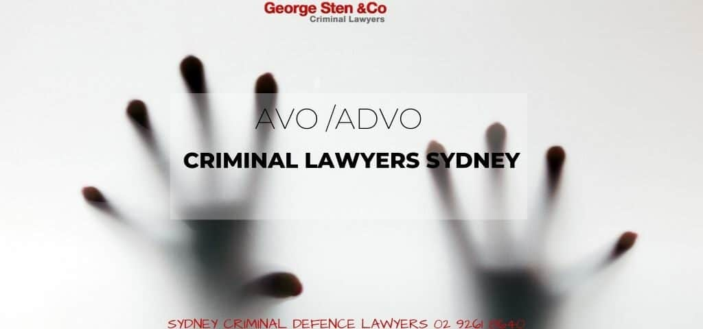 AVO/ADVO Lawyers Sydney - Apprehended Violence Orders - George Sten and Co