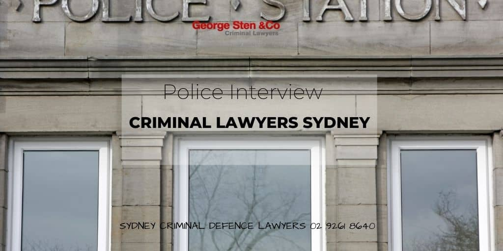 Police Interviews - Criminal Law Charges