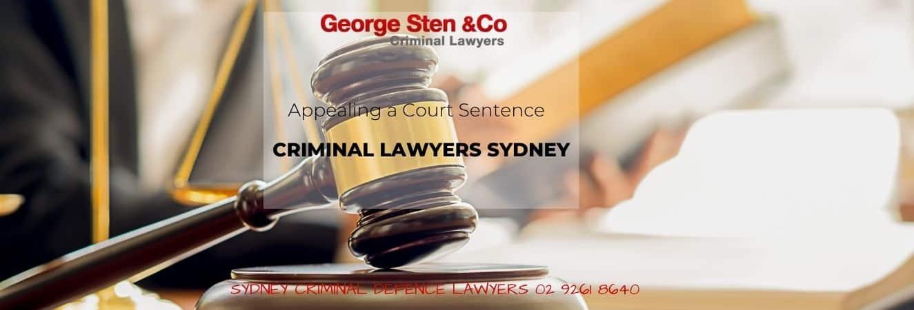Appealing a Court Sentence
